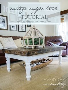 DIY Faux-Slab Cottage Coffee Table Tutorial
