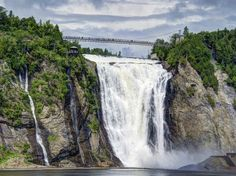 Niagara gets all the glory, but Montmorency Falls—about seven miles from Quebec City—is actually 99 feet higher, and it's magnificent to behold.
