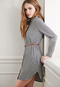 Gingham Plaid Shirt Dress | Forever 21 - 2000053189
