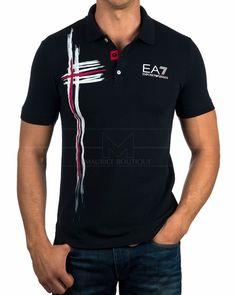 Polos Armani EA7 ® Azul Noche | ENVIO GRATIS Armani Polo, Armani Men, Emporio Armani, Mens Polo T Shirts, Boys T Shirts, Camisa Polo, Moda Junior, Camisa Floral, Polo Shirt Design