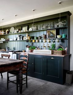 North Farm, Rita Konig's farmhouse in County Durham Plain English Kitchen, English Country Kitchens, English Farmhouse, Country Farm, Country Style, Open Plan Kitchen, Kitchen Dining, Kitchen Decor, Dining Room