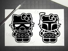 Hello Kitty Boba Fett and Storm trooper vinyl by UniqueGraphix, $8.50