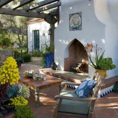 Mediterrane Gartengestaltung   45 Gartenideen Und Gartenmöbel | Gärten |  Pinterest