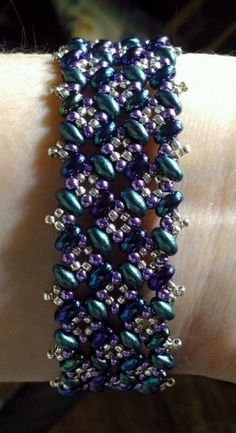 Patchwork Bracelet Pattern Tutorial for Twin or Duo Beads   BeadingButterfly - Patterns on ArtFire