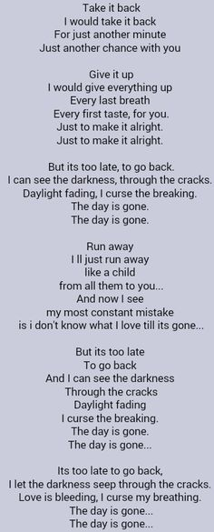 Parmalee Another Day Gone Lyrics - lyricsowl.com