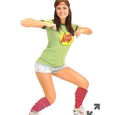 Sun drop girl costume reduced price Shirt new never worn. Size M socks and headband used my friend used them on halloween when she wore her sundrop shirt. It's a perfect funny costume everyone loved it :) shorts not included. Other