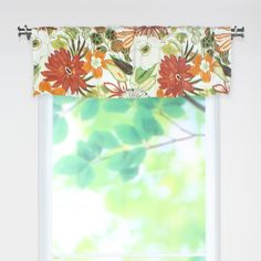 Amazon.com: Chooty Lilith Marigold 54 by 15 Rod Pocket Curtain Valance: Furniture & Decor