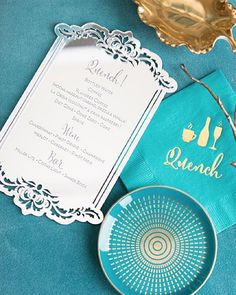 Picking a beverage should always be this fabulous! Loving this shot of this custom lasercut mirror menu and gold foil cocktail napkin for Diet Coke, Cocktail Napkins, Gold Foil, Corporate Events, Laser Cutting, Champagne, Beverages, Wedding Invitations, Southern