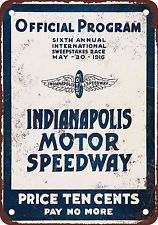 1916 Indianapolis Motor Speedway Vintage Look Reproduction Metal Sign