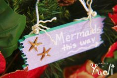 Hey, I found this really awesome Etsy listing at https://www.etsy.com/listing/258147873/ornament-mermaids-this-way-sign-mermaid