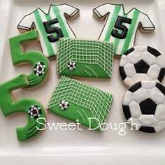 Sweet Dough soccer cookies