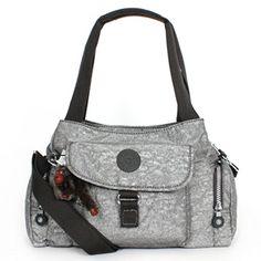 Kipling Felix (Fairfax) L Shoulder Bag Crossbody Silver Glamer