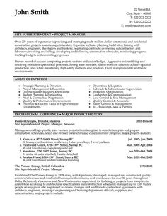 21 Best Best Construction Resume Templates Samples Images Sample