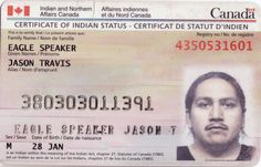 native tax free status card, similar to what Tiffany uses in the book.