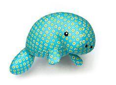 Manatee plush toy sewing pattern PDF by DIYFluffies on Etsy
