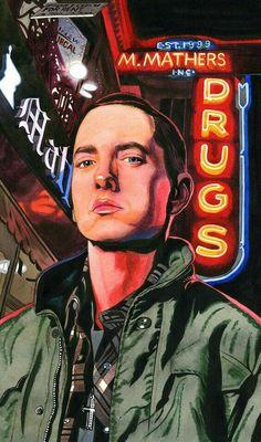 Eminem Rap and Rap God Arte Do Hip Hop, Hip Hop Art, Eminem Poster, Eminem Wallpapers, Eminem Wallpaper Iphone, Marshall Eminem, Eminem Rap, Eminem Music, Les Stickers