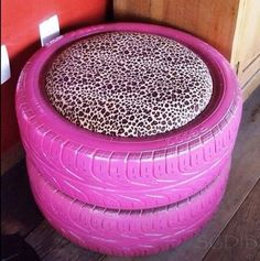 Old tires = seat