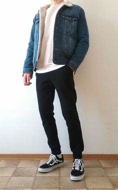 Vans old skool boys guys outfit vans love Outfits Casual, Summer Outfits Men, Stylish Mens Outfits, Mode Outfits, Summer Men, Outfit Summer, Simple Outfits, Vans Outfit Men, Outfit Jeans