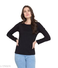 Checkout this latest Tshirts Product Name: *Slim Fit Cotton T-Shirt* Fabric: Cotton Sleeve Length: Long Sleeves Pattern: Solid Multipack: 1 Sizes: S, M, L, XL, XXL Easy Returns Available In Case Of Any Issue   Catalog Rating: ★4.2 (322)  Catalog Name: Ladies Slim Fit Cotton T-Shirts Vol 7 CatalogID_235941 C79-SC1021 Code: 034-1796216-516