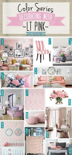 Color Series; Decorating with Lt Pink | A Shade Of Teal