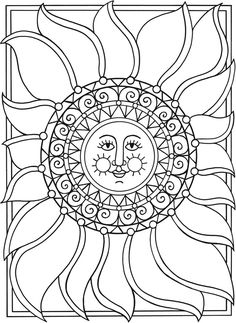 Welcome To Dover Publications Margit Ernstsen Sun Moon And Stars Coloring