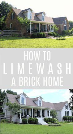 42 best limewashed brick images whitewash brick house white wash rh pinterest com