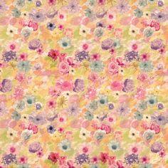2158 Watercolor Flower Blooms Backdrop