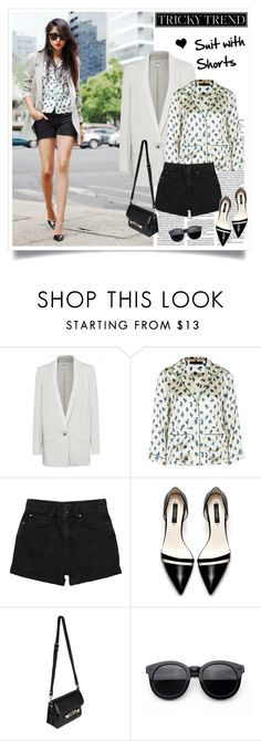 """""""Suit with Shorts"""" by elske88 ❤ liked on Polyvore featuring Olsen, Helmut Lang, Topshop, Monki, Zara, Proenza Schouler, women's clothing, women, female and woman"""