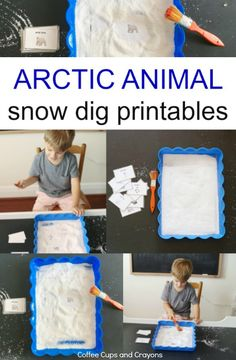 Arctic Animal Snow Dig Activity and Printable | Coffee Cups and Crayons
