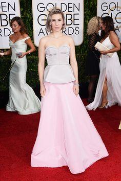Zosia Mamet at the Golden Globes 2015