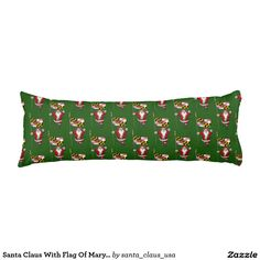 Santa Claus With Flag Of Maryland Body Pillow