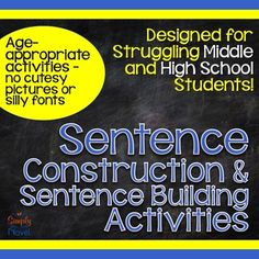 Sentence Writing and Sentence Improvement Activities - help students improve their writing, one sentence at a time!