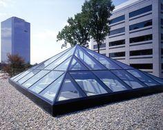 Glass Pyramid Custom Skylight by BristoliteDS for the Compri Hotel.