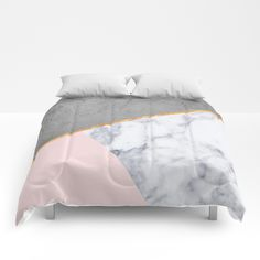 Marble Blush Gold gray Geometric Comforters by xiari - Queen: x Rose Gold Room Decor, Rose Gold Rooms, Pink Bedroom Decor, Gold Bedroom, Bedroom Ideas, Rose Gold Bed, Gold Comforter, Marble Bedroom, Geometric Bedding