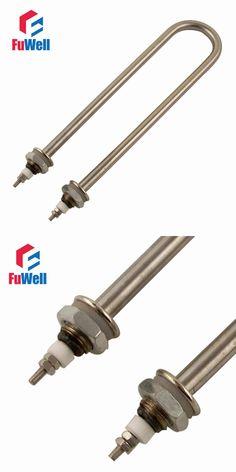 U Shaped Iron Head Stainless Steel Tube Heating Element 220V/380V M16/M18 Mounting Thread