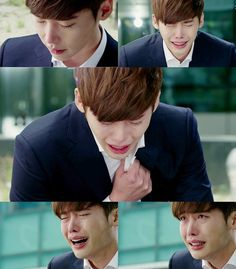 Lee Jong Suk Crying on Pinocchio Lee Jong Suk Cute, Lee Jung Suk, Korean Men, Korean Actors, Korean Dramas, Asian Actors, Lee Jong Suk Pinocchio, Kang Chul, Moorim School