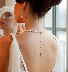 Hey, I found this really awesome Etsy listing at https://www.etsy.com/listing/230572501/pearl-backdrop-necklace-bridal-set