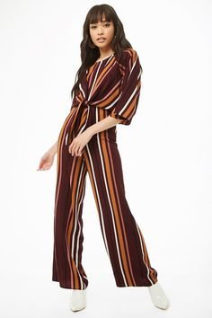 d59fb4add829 Forever 21. Striped JumpsuitPant ...