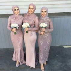Long Sleeve Muslim Bridesmaid Dresses Full Lace Applique Mermaid Prom Gowns Floor Length New Arrival Long Evening Dress Bridesmaids Bridesmaid Dresses From Dresstop, $105.08| Dhgate.Com