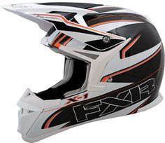 FXR Racing - Snowmobile Gear - X-1 Carbon Helmet - Black