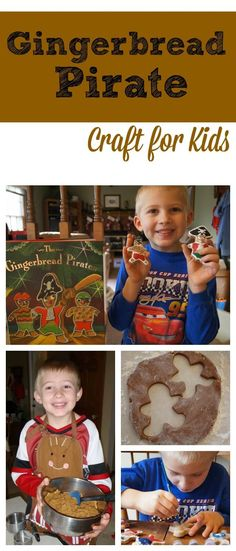 Gingerbread Pirates Craft for Kids - I love this super easy to make Cinnamon Ornament Dough Recipe. The pirates turned out super cute, definitely one of our favorite Christmas books for kids! Easy Crafts For Teens, Toddler Crafts, Preschool Crafts, Diy For Kids, Preschool Jungle, Toddler Preschool, Christmas Books For Kids, Fun Christmas Activities, Activities For Kids