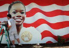 Gabby Douglas Honored With Mural In Her Hometown - http://www.blackenterprise.com/news/gabby-douglas-mural-virginia-beach/
