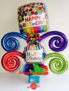 Globos Mylar, Balloon Bouquet, Barbie House, Mayo, Balloons, Birthdays, Happy Birthday, Basket, Christmas Ornaments