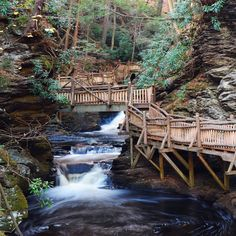 Bushkill Falls, PA, in the Poconos. Over 2 miles of hiking trails Vacation Destinations, Vacation Trips, Dream Vacations, Vacation Spots, Vacation Ideas, Oh The Places You'll Go, Places To Travel, Places To Visit, Travel Stuff