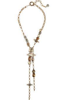 Lanvin Gold-toned Swarovski crystal necklace | NET-A-PORTER