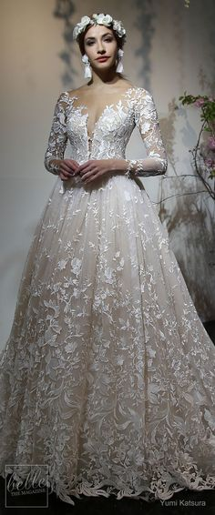 Yumi Katsura Wedding Dress Collection Spring 2019 | Long sleeve lace ball gown wedding dress | Lace Sweetheart tulle bridal gown #weddingdress #weddingdresses #bridalgown #bridal #bridalgowns #weddinggown #bridetobe #weddings #bride #weddinginspiration #weddingideas #bridalcollection #bridaldress #fashion #dress See more gorgeous bridal gowns by clicking on the photo