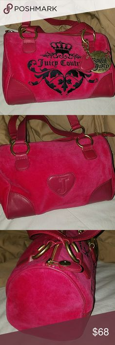 """👜Juicy Couture Handbag👜 EUC JC Handbag... This Bag Is One Of The Most Beautiful Bags That I've Ever Owned... I'm Hesitant To Sell It... Pics Don't Do This Bag Justice At All!! So I Have To Make The Price For This One """"FIRM"""", Unless Bundled!!                🎀Every Part Of This Bag Is Perfect..               🎀It Is Worth Every Penny I'm Asking...               🎀PRICE IS FIRM/UNLESS BUNDLED... THANKS FOR BROWSING THROUGH MY CLOSET😉              😙YOU ARE GREATLY APPRECIATED😙 Juicy…"""