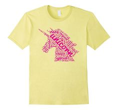 Amazon.com: I'm A Magical Pink Unicorn   Fun Word Cloud Design T-Shirt: Clothing