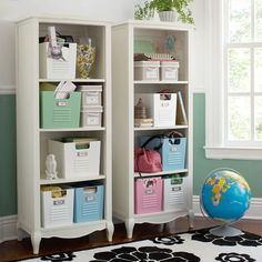 This bookcase is like the nightstand, but has open shelves and is tremendously tall. I am a bookworm and it would be nice for some storage in my room.  #PBTEEN