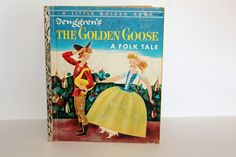 A 1954 Little Golden Book - The Golden Goose by the Brothers Grimm Pictures by Gustaf Tenggren by ScrapPantry, $6.99 USD